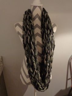 Arm Knitted Infinity Scarf - Cowl by IdleHandsCrochetKnit on Etsy
