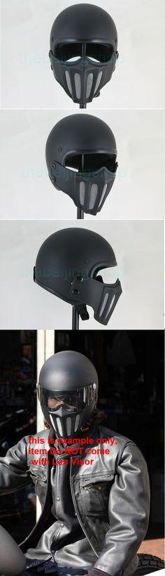 TT Samurai Mask with Jet Open Face Motorcycle Helmet