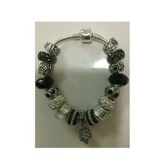 European style bracelet European style bracelet stainless steel 7.5 inch of length handmade with murano glass beads and charms Jewelry Bracelets