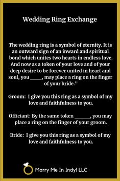 Wedding Officiant Script, Wedding Script, Wedding Vows, Plan Your Wedding, Wedding Events, Wedding Planning, Wedding Rings, Wedding Ideas, Wedding Stuff