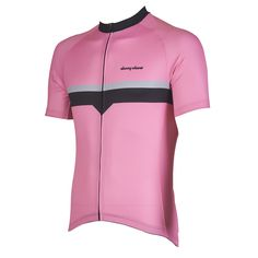 Bolt Pink Performance Jersey from DannyShane | Designer Cycling Apparel of Bamboo White Ash Fabric