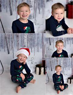 big brother, santa hat, holiday, christmas, winter, presents, sled, pajamas, photos, photography