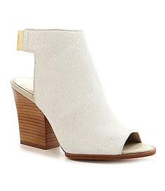 Calvin Klein Welsie PeepToe Booties #Dillards