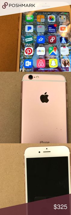 🎀 iPhone 6s excellent condition🎀 Rose gold color, excellent condition, deactivated, cleaned, no SIM card is 16G...Doesn't come with any other accessories... just selling phone. Price firm....other discounts don't apply. apple iphone Other