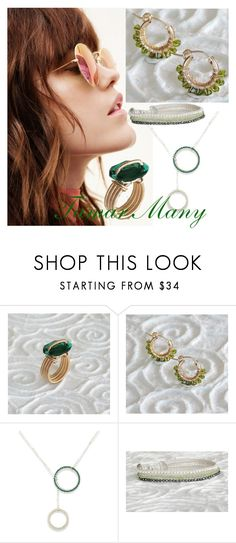 """""""jewelry inspaire green"""" by tamarmanyjewelry on Polyvore"""