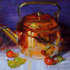 Teapot on Purple by Elena Katsyura http://dailyartshow.faso.com/20140922/1566324
