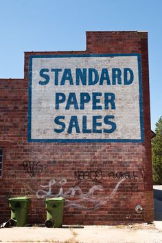 Standard Paper Sales ghost sign, Asheville, NC