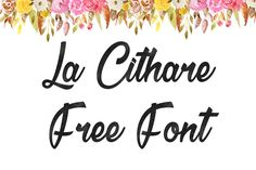 DLOLLEYS HELP: La Cithare Free Font