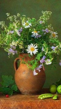 Polne kwiatki w  dzbanku