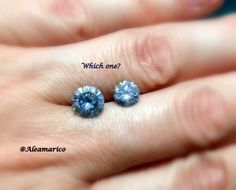Ice blue Moissanite, which one would you choose? The 1.60, or 1.00 carat? Both are beautiful, and available for purchase in your custom ring.