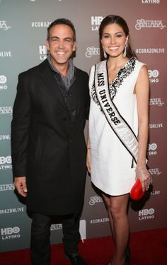 "Actor Carlos Ponce and Miss Universe Gabriela Isler attends HBO Latino NYC Premiere of ""Santana: De Corazon"" at Hudson Theatre. (Photo by Jerritt Clark/Getty Images for HBO Latino)"
