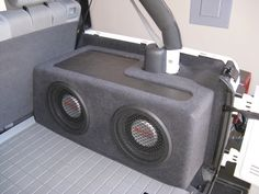 So I've seen many jeep tj owners will put their sub under the back seat so it's hidden. Wrangler Jeep, Jeep Jku, Subwoofer Box, Jeep Wrangler Accessories, Jeep Accessories, Custom Jeep, Custom Cars, Jeep Mods, Black Jeep