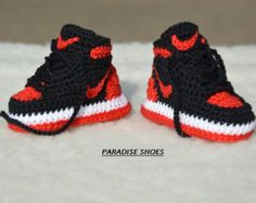 crochet nikecrochet shoes by ParadiseShoes on Etsy