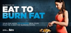"Nutrition 101: Eat To Burn Fat... Pretty sweet hit list of the ""15 best"" fat-burning foods with a quick rundown on the science behind each... One of the better ones I've seen out there."