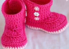 CocoStar - Pink Crochet Baby Boots, Size 3-6 months, $14.00 (http://www.cocostar.ca/pink-crochet-baby-boots-size-3-6-months/)