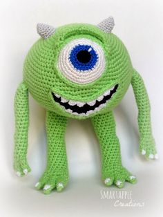 #Amigurumi #MikeWazowski Monsters Inc http://smartapplecreations.blogspot.com