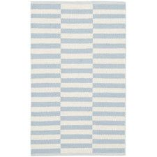 Montauk Ivory/Light Blue Area Rug