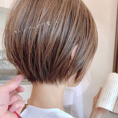 46 Perfect Short Hairstyles for Fine Hair in 2019 - Style My Hairs Japanese Short Hair, Asian Short Hair, Short Hair Styles Easy, Short Hair Cuts, Haircuts For Fine Hair, Short Bob Hairstyles, Modern Bob Haircut, Hair Arrange, Haircut And Color