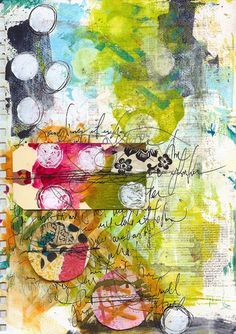 Art Journal Page - Spaced | by Roben-Marie