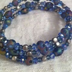 Triple frosted blue wrap on Etsy, $25.00
