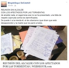 WEBSEGUR.com: DEDICATORIA AL ALCALDE Y RESULTADO DE LA REUNIÓN D...