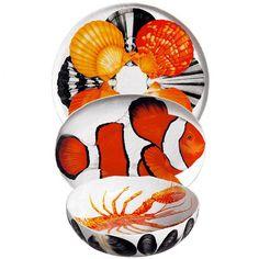 Taitù - Insalatiera Pesci | Collezione: Dieta Mediterranea | Materiali: Porcellana | #design #fish | http://accessoritavola.tavolaregalo.it/