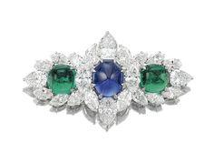 Gem-set and Diamond Brooch, Bulgari