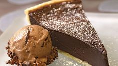 Good Food Happy Family: Antipasto Squares Hedy Goldsmith's Chocolate Bourbon Fudge Tart comes from her book Baking Out Loud. The filling uses dark cocoa powder, semisweet chocolate, sour cream, bourbon, and Lyle's Golden Syrup. Köstliche Desserts, Delicious Desserts, Dessert Recipes, Delicious Chocolate, Chocolate Pie Recipes, Chocolate Pies, Baking Chocolate, Chocolate Cream, Chocolate Lovers