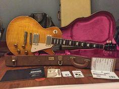 Gibson Custom Shop Historic '59 Reissue Les Paul 2014 R9 1959 COA flamed top worldwide shipping | Reverb