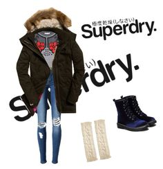 """#Mysuperdry"" by karma-yoseob on Polyvore featuring Superdry, STELLA McCARTNEY, Avenue and MySuperdry"