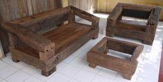 Bespoke-chunky-railway-sleeper-Garden-furnitue-set-handmade-to-your-design