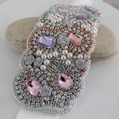 Alice in Wonderland Cuff Bracelet Wedding Cuff by AlixHDesigns