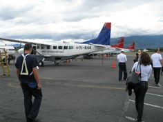 Cheap Airline Tickets  Small planes for domestic flights in Costa Rica. They weigh not only the luggage! Attention Ladies: You will also weighed but no fear, together with the case