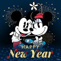 Happy New Year Mickey Mouse and Minnie Mouse Disney Happy New Year, Happy New Year Message, Happy New Year Images, Happy New Year Wishes, Happy New Year Greetings, Happy New Year 2019, Merry Christmas And Happy New Year, Happy Pics, Happy Year