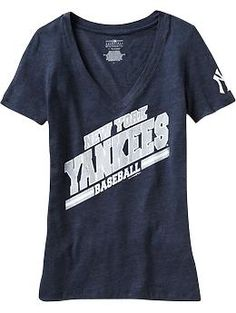 Women's MLB™ V-Neck Team Tees | Old Navy