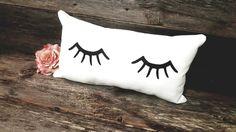 Eyelashes Pillow - Eyelashes - Eyelash Decor - Eyelashes - Lashes - Lash Lover Gift - Gift for her - Teen Girl Gift - Cute Pillows by HighlandDesignCo on Etsy https://www.etsy.com/listing/463767779/eyelashes-pillow-eyelashes-eyelash-decor