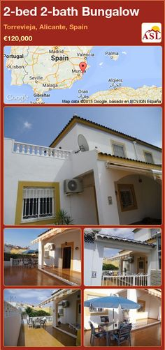 2-bed 2-bath Bungalow in Torrevieja, Alicante, Spain ►€120,000 #PropertyForSaleInSpain