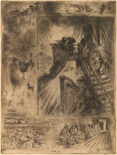 image: Felix-Hilaire Buhot, La Traversée (The Passage), 1879-1885