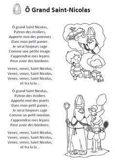 Des chants illustrés et des dessins pour fêter la venue de Saint-Nicolas (Ô grand-Saint-Nicolas - Grand Saint-Nicolas - Mon âne).
