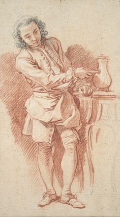 The Athenaeum - Study of Valet with Coffee Pot (François Boucher - )