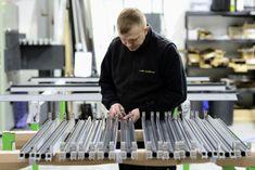 Lite Haus team member working in their factory