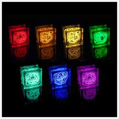 """Remember those cute light-up """"presents"""" sold at craft fairs around Christmas? With colored lights, you don't even need a bow. Glass Block Crafts, Glass Blocks, Light Up Presents, Electroluminescent Wire, Lighting Concepts, Mason Jar Lamp, Make And Sell, Craft Fairs, Christmas Lights"""