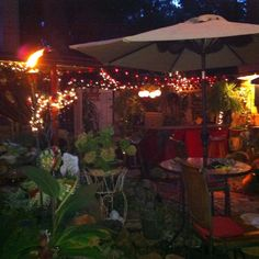 Part of back yard, pond/bar area. Love it at night! ;)