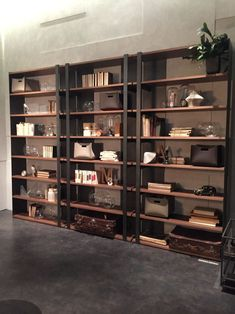 Wood and and black metall for storage