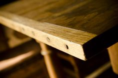Breadboard End Table Joinery. VIDEO: Traditional Woodworking Tour: 1600′s English Furniture and Timber Frame Farmhouse (WoodAndShop.com)