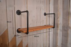 Amazon.de: Retro Regal Plumbing Rack Küche Bracket Iron Pipe Plank LOFT Wanddekoration ( größe :