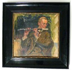 Gemälde Flötenspieler