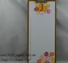 Perpetual Birthday calendar - June - My Elegant Cards - occasions 2015 - stampin' up! - Liz Bailey