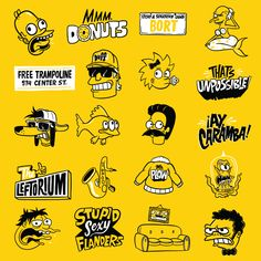 The Simpsons Anniversary on Behance Found Art, 30th Anniversary, Best Graphics, The Simpsons, The Duff, Illustration, Inspiration, Commercial, Behance