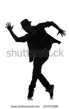 silhouette of male dancer isolated on white by Elnur, via Shutterstock